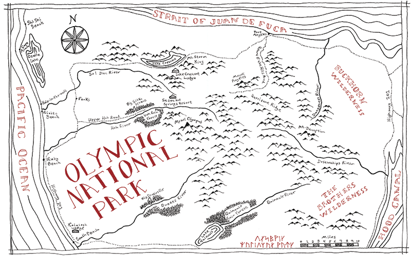 Olympic National Park Tolkien map